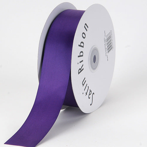 Purple - Satin Ribbon Single Face - ( W: 3/8 inch | L: 100 Yards )