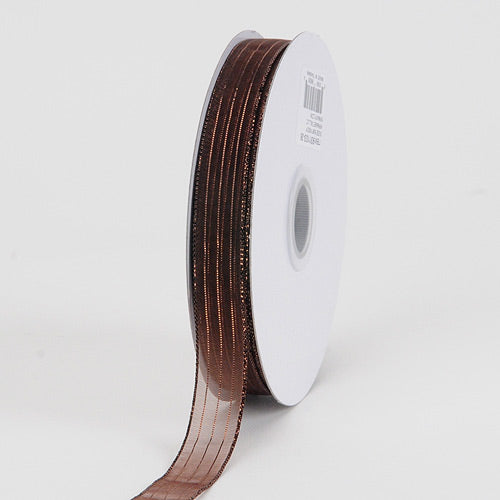 Chocolate - Corsage Ribbon - ( W: 3/8 inch | L: 50 Yards )