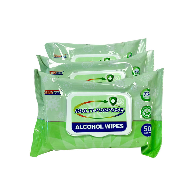 Daily Use Multi-Purpose 75% Alcohol Wipes - 200 Wipes