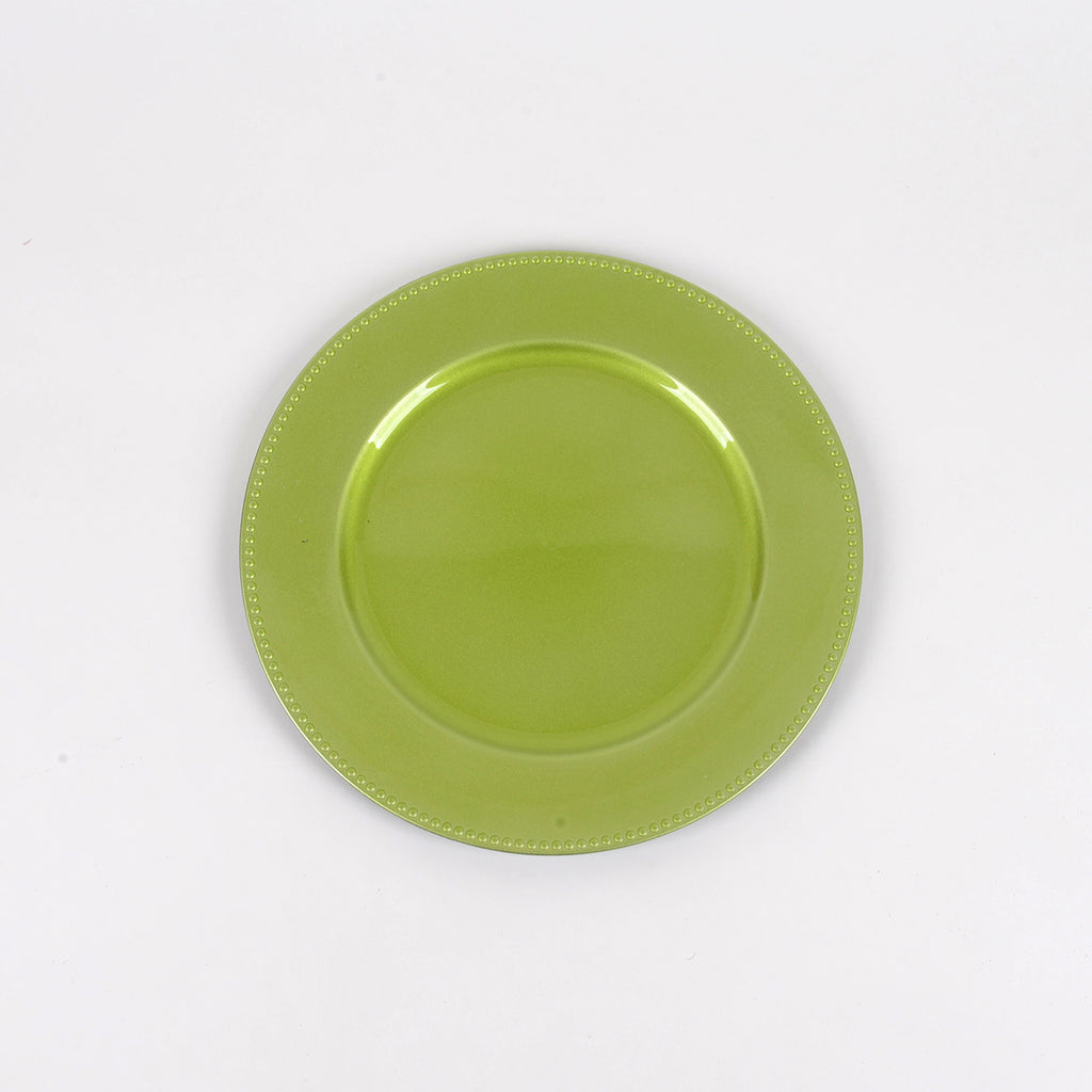 13'' Apple Green Round Charger Plates - Pack of 6
