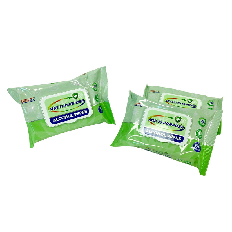 Daily Use Multi-Purpose 75% Alcohol Wipes - 50 Wipes