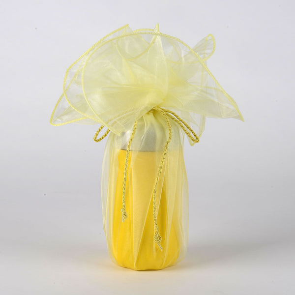 Organza Wrapper with Cord - Baby Maize