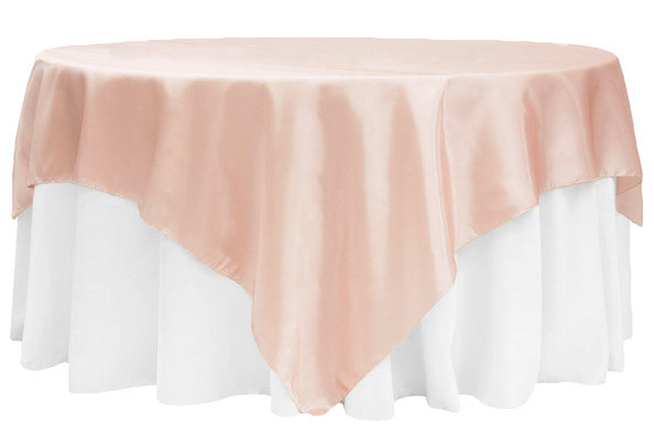 Blush - 72 x 72 Satin Table Overlays - ( 72 x 72 Inch )