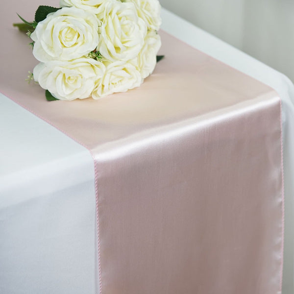 Blush - Satin Table Runner - ( 12 inch x 108 inches )