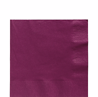 Burgundy luncheon paper napkins 50pcs