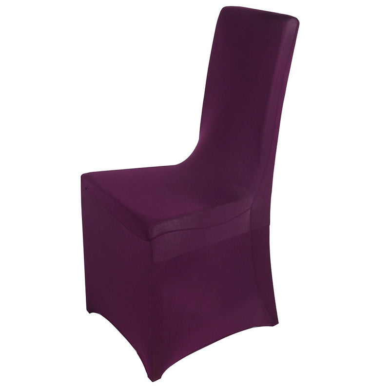 Plum- Spandex Banquet Chair Cover - ( Spandex Banquet Chair Cover )