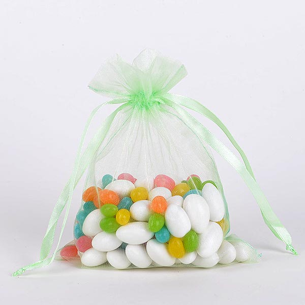 Mint - Organza Bags - ( 5 x 6.5-7 Inch - 10 Bags )