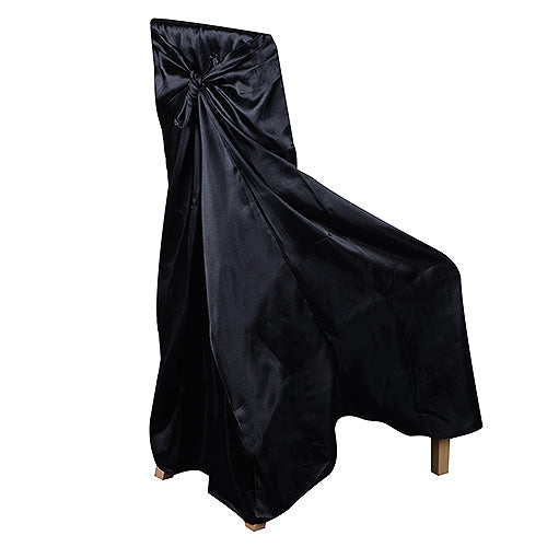 Black - Universal Satin Chair Cover - ( Universal Satin Chair Cover )