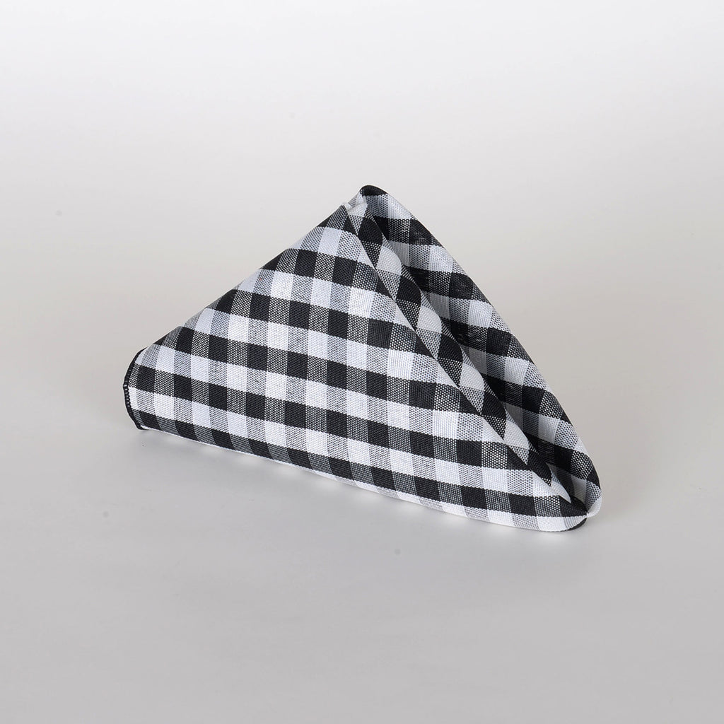 Black - Checkered/ Plaid Napkins - Pack of 4