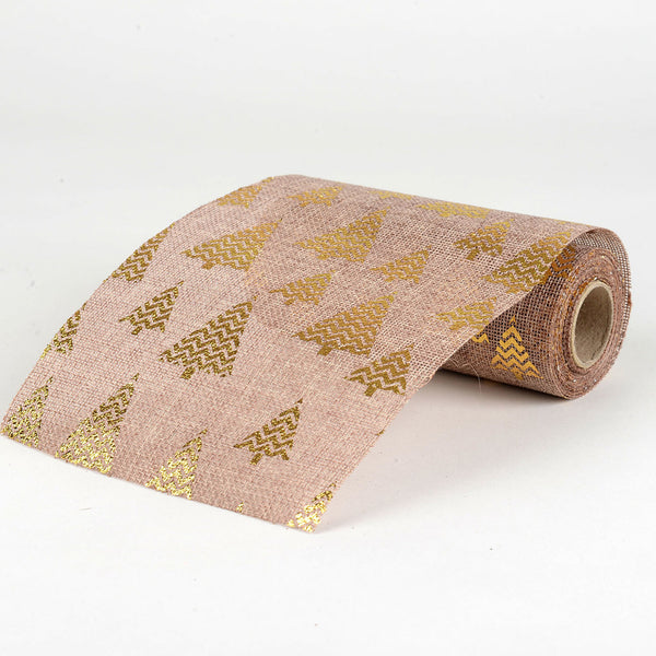 Natural -  Faux Burlap Roll ( W: 6 inch | L: 5 Yards ) - 960559GO