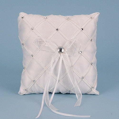 Ring Bearer Pillow White ( 7 x 7 inches ) - 4037