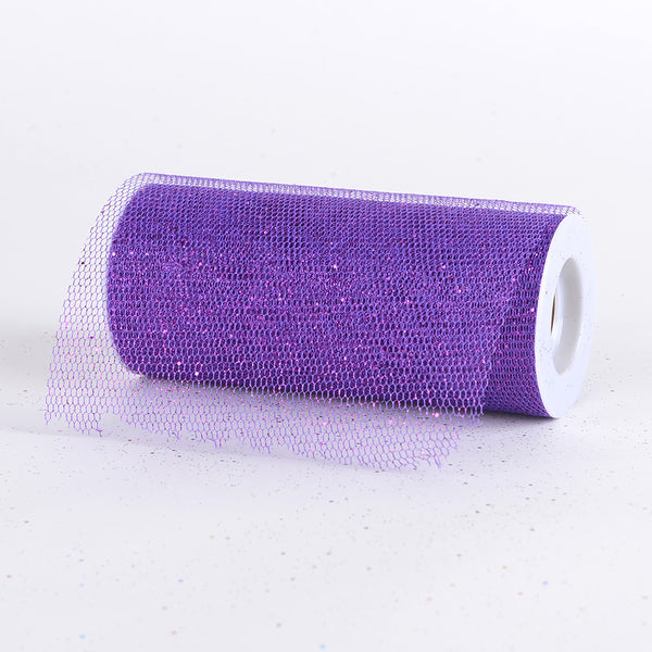 Purple - Premium Glitter Net - ( W: 6 Inch | L: 10 Yards )