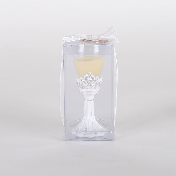 Princess Crown Toasting Flute Candle