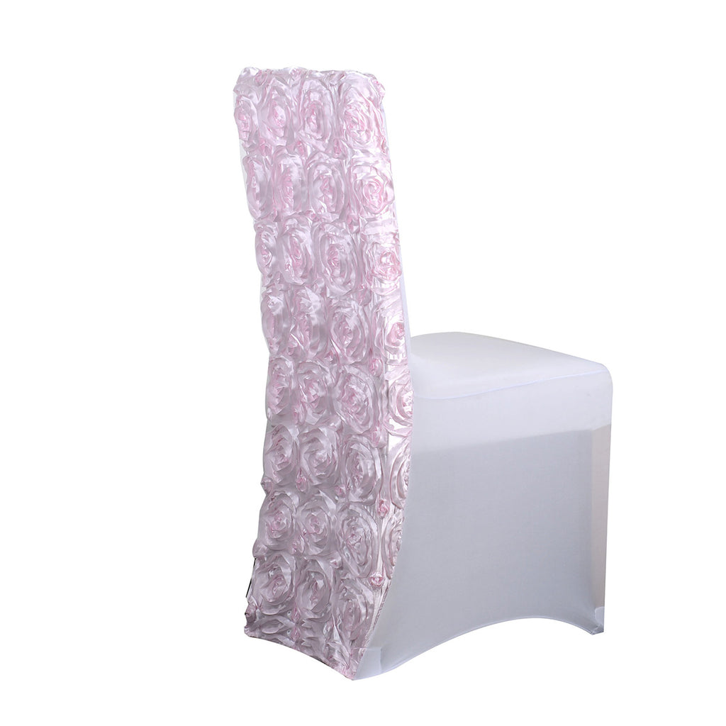 Rosette Spandex Chair Cover - Light Pink
