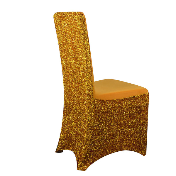 Metallic Spandex Chair Cover - Gold