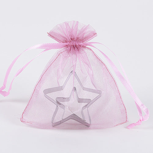 Light Pink - Organza Bags - ( 5 x 6.5-7 Inch - 10 Bags )
