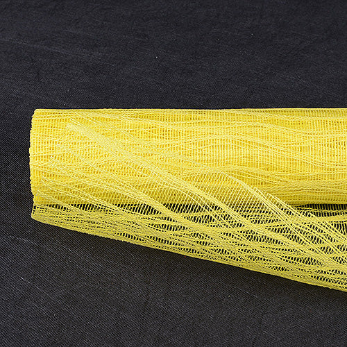 Yellow  - Twine Mesh Wrap -  ( 21 Inch x 6 Yards )