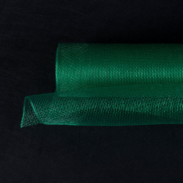 Hunter Green  - Floral Mesh Wrap Solid Color -  (21 Inch x 10 Yards )
