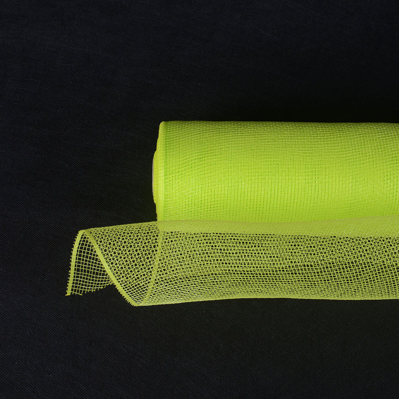 Apple Green  - Floral Mesh Wrap Solid Color -  ( 21 Inch x 10 Yards )