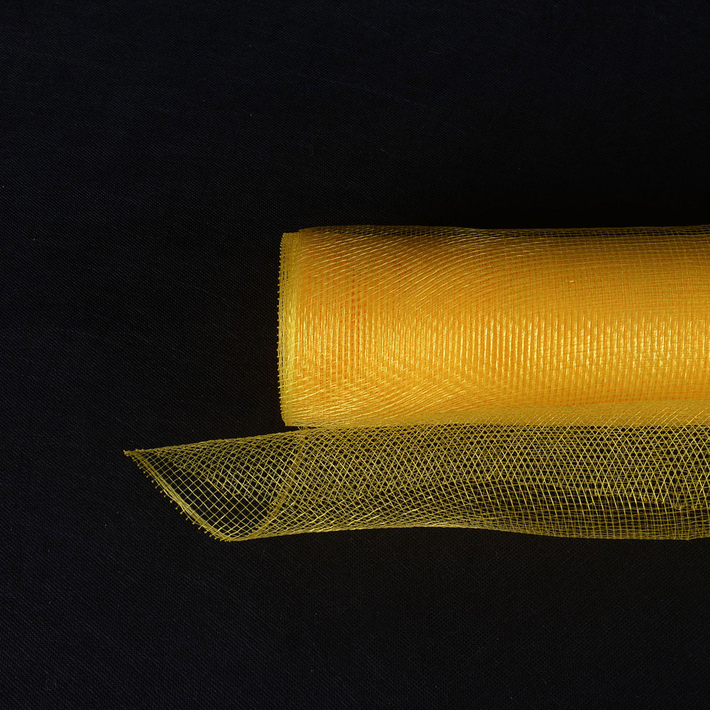 Light Gold  - Floral Mesh Wrap Solid Color -  ( 21 Inch x 10 Yards )