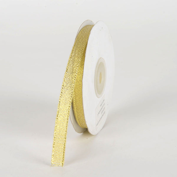 Gold - Metallic Sheer Ribbon - ( 3/8 Inch x 25 Yards )