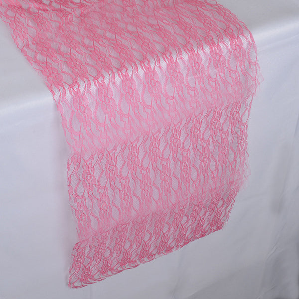 FUCHSIA - Lace Table Runners - ( 14 inch x 108 inches )