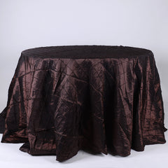120 inch Round Pintuck Satin Tablecloths