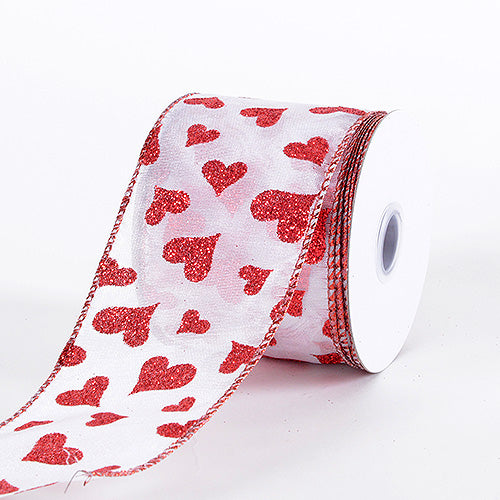 Valentine Ribbon Red ( 2.5 Inch x 10 Yards) - YC1670250R001