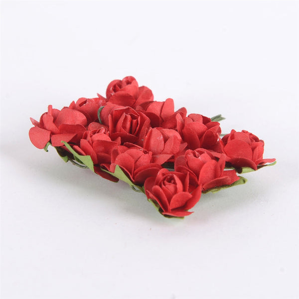 Paper Rose Flowers (12x12) Red ( 12 Paper Flowers )