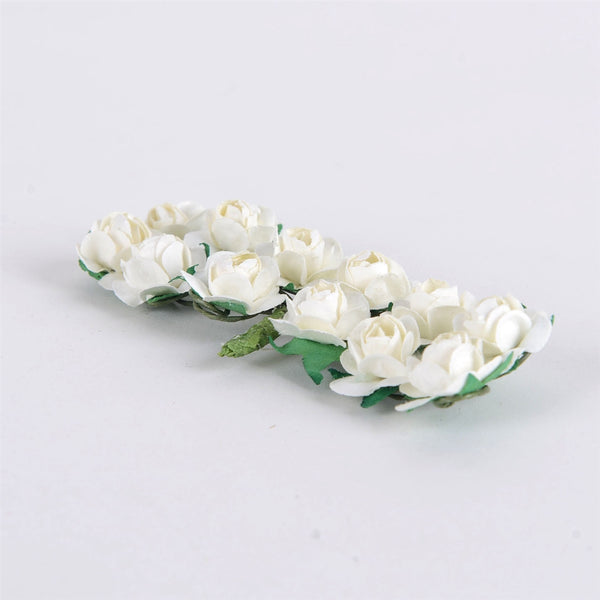Paper Flowers (12x12) Ivory ( 12 Paper Flowers )