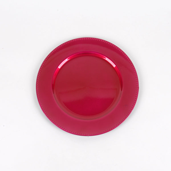 13'' Fuchsia Round Charger Plates - Pack of 6