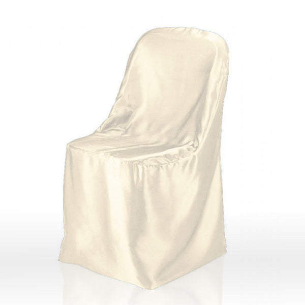 Ivory - Folding Chair Cover Satin - ( Chair Cover )
