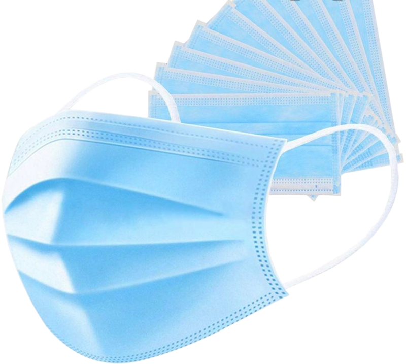 3-Ply Disposable Protective Face Mask - 2 Boxes - 100 Masks
