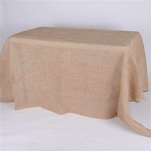 90x132 Inch Fine Rustic Jute Burlap Rectangle Tablecloths