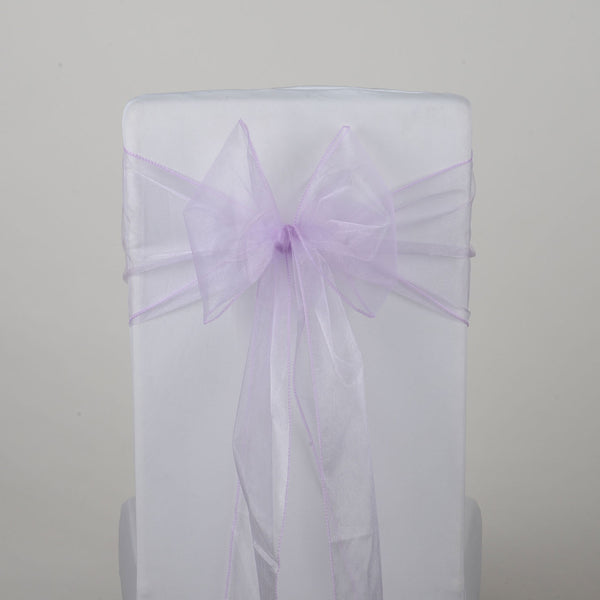 Lavender - Organza Chair Sash - ( Pack of 10 Piece - 8 inches x 108 inches )