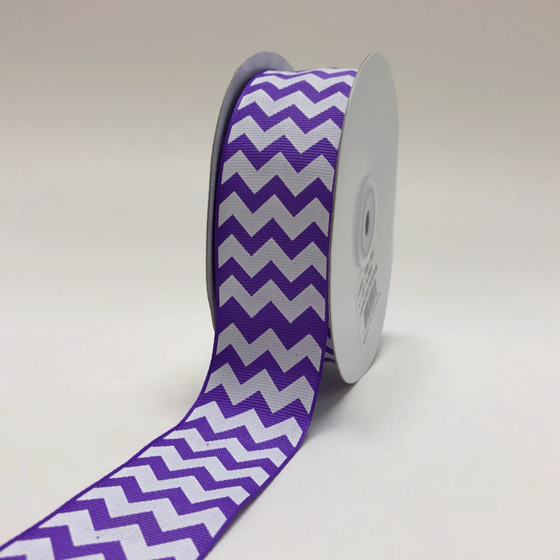 Lavender - Chevron Design Grosgrain Ribbon ( 1-1/2 inch | 25 Yards )