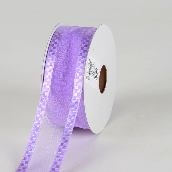 Light Orchid - Organza Check Edge Ribbon - ( 1-1/2 inch | 25 Yards )