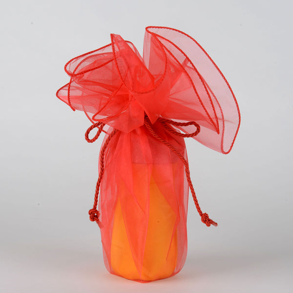 Organza Wrapper with Cord - Melon