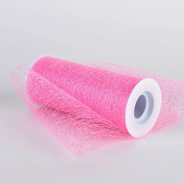 6 x 10 Yd Glitter Sisal Mesh Roll -  Light Pink