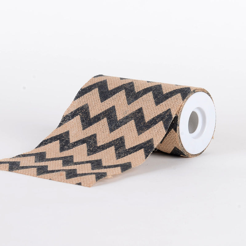 Natural Burlap Chevron Roll - ( W: 6 inch | L: 5 Yards )