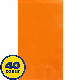 Orange Party Pack Guest Towels 40pcs