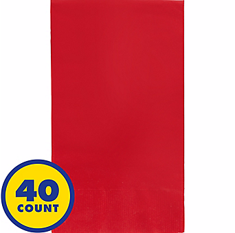 Red Party Pack Guest Towels 40pcs