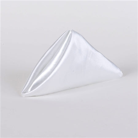 White - 20 x 20 Satin Napkins - Pack of 5