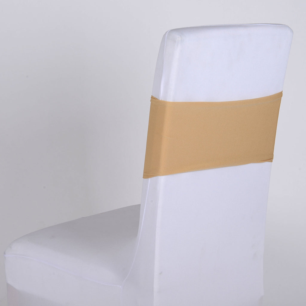 Champagne Spandex Chair Sash 5 pieces