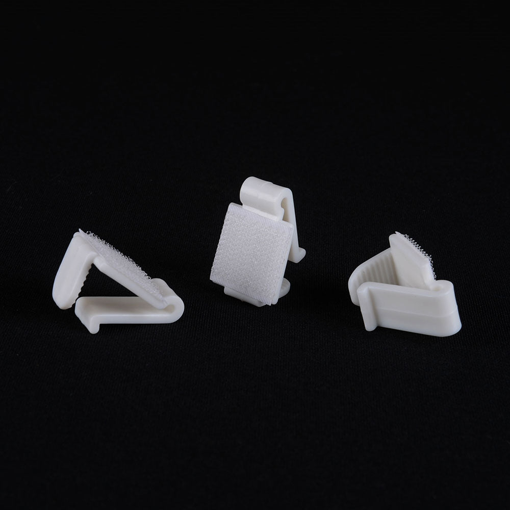 1 Dozen LARGE Plastic Table Skirt Clips - White 0.6 Inch