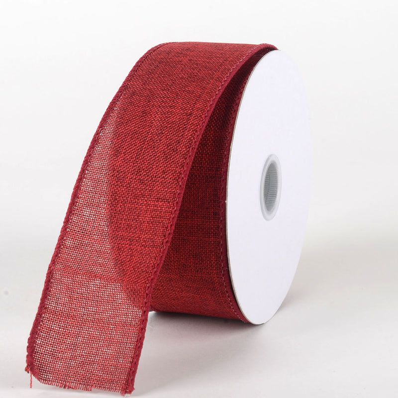 Dark Red - Canvas Ribbon - ( W: 1-1/2 inch | L: 10 Yards )