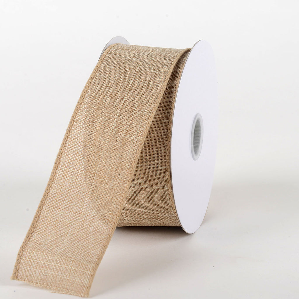 Natural  - Canvas Ribbon - ( W: 1-1/2 inch | L: 10 Yards )