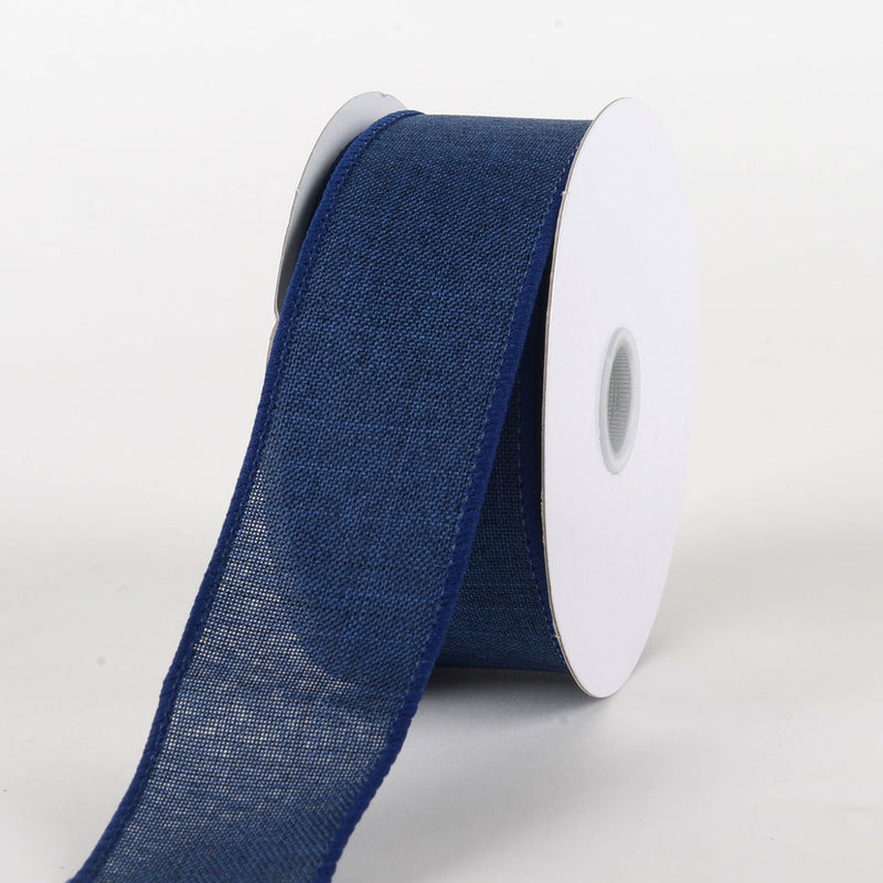 Navy Blue  - Canvas Ribbon - ( W: 1-1/2 inch | L: 10 Yards )