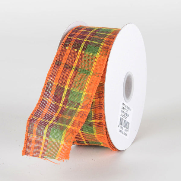 Retro Fall Plaid Ribbon - (1.5''x10yds) - X81490917