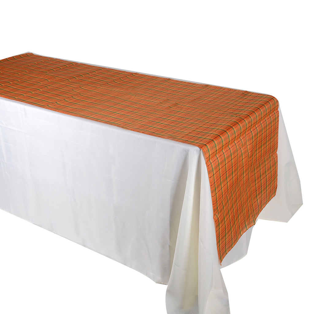 Orange Checkered Overlay ( W: 28 inch | L: 108 Inches )